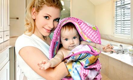 Toalha para bebé com capuz personalizável por 14,95€