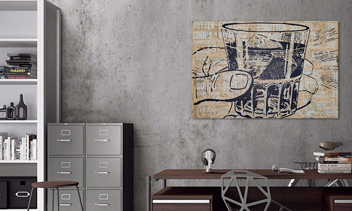 Man Cave Canvas Art : Man cave gallery wrapped canvas groupon goods