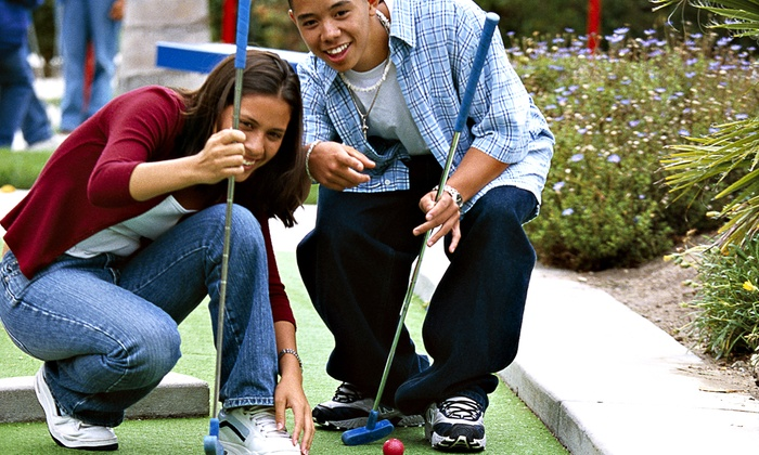 Academy Miniature Golf - One block South of Dublin and Academy: Unlimited Rounds of Miniature Golf for Two or Five at Academy Miniature Golf (Up to 50% Off)
