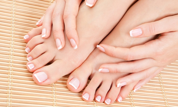 Nail Spa - Elmsford: UV Permanent French Set with Pedicure or Regular Mani-Pedi at Nail Spa (Up to 47% Off)