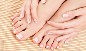 Divine Touch Exclusive Nail Studio: One or Three Classic or Shellac Mani-Pedis at Divine Touch Exclusive Nail Studio (Up to 67% Off)