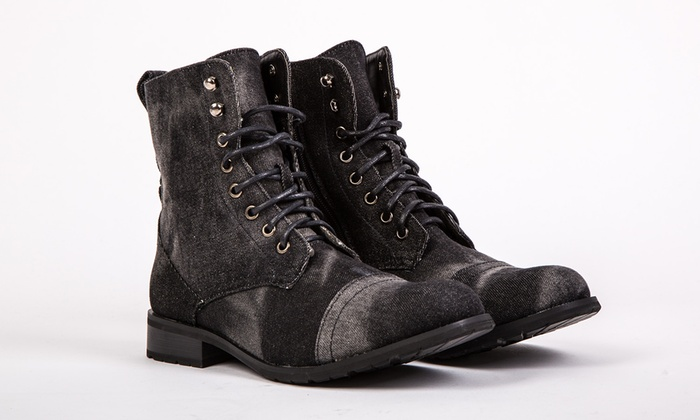 Ladies' Canvas Army-Style Boots for £14.99