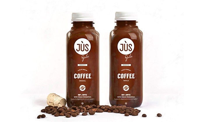 Jus by Julie: Six-Pack, 12-Pack, or 18-Pack of Probiotic Cold Brew Coffee from Jus by Julie (31% Off)