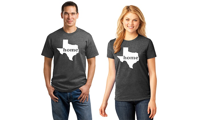 Embellish Accessories and Gifts: One or Two Custom Home State T-Shirts from Embellish Accessories and Gifts (Up to 59% Off). All 50 States Available.