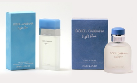 Dolce & Gabbana Light Blue Eau de Toilette; 1.6 Fl. Oz. for Women or 2.5 Fl. Oz. for Men