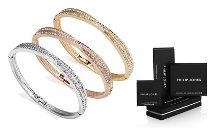 1, 2 ou 3 bracelets Crossover ornés de cristaux Swarovski®