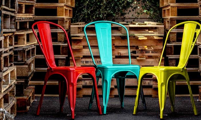 Set di sedie industrial style groupon goods for Sedie industrial style