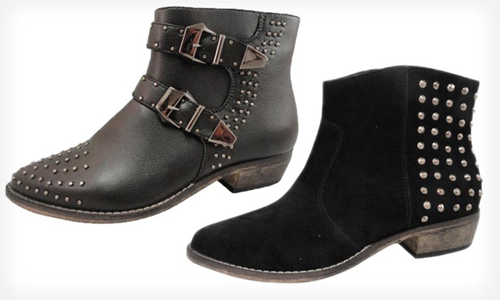 Bucco Studded Booties: $22.99 for Bucco Studded Booties ($100 List Price). 2 Styles Available. Free Shipping.