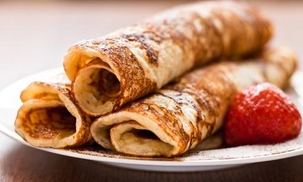 Eet zoveel pannenkoeken als je op kan met 26 personen bij Eetcafé Het Gebouw in Ammerstol, nabij Gouda