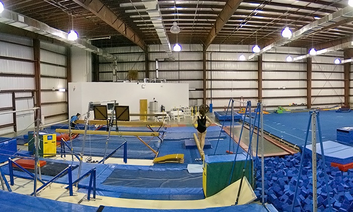 The FunPlex of Gulf Breeze - Gulf Breeze: Three or Five Gymnastics, Tumbling, Camp, Open Gym or Open Bounce at The Funplex of Gulf Breeze (Up to 52% Off)