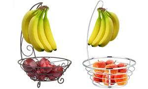 Fruit Tree Basket Bowl with Banana Hanger