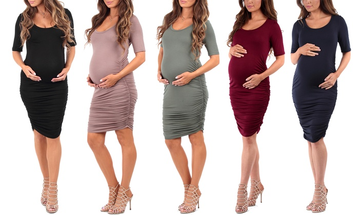 23a051a2dee Women's Ruched Maternity Dress | Groupon