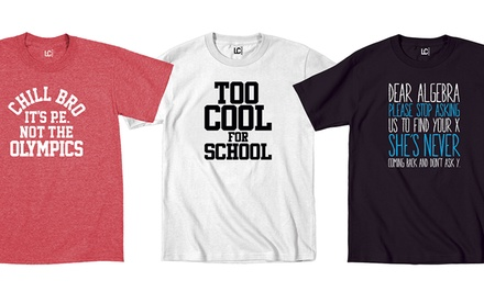 Men's Back to School Tees