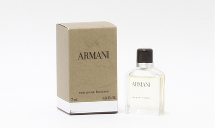 Armani Eau Pour Homme by Giorgio Armani Eau de Toilette Mini Splash for Men (0.24 Fl. Oz.)