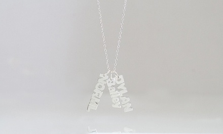 $5 for a Mini Name Necklace with One Name from Monogramhub.com ($69.99 Value)