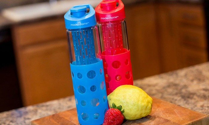 Glass Water Bottle with Fruit Infuser: Glass Water Bottle with Fruit Infuser. Free Returns.