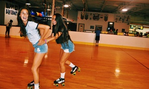 Skate West: Admission and Skate Rental for Two or Four or Month of Unlimited Skating for One at Skate West (Up to 82% Off)