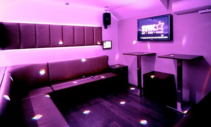 image for Two-Hour Private Karaoke Party with Drinks for Up to Seven at Sync Bar (Up to 75% Off)
