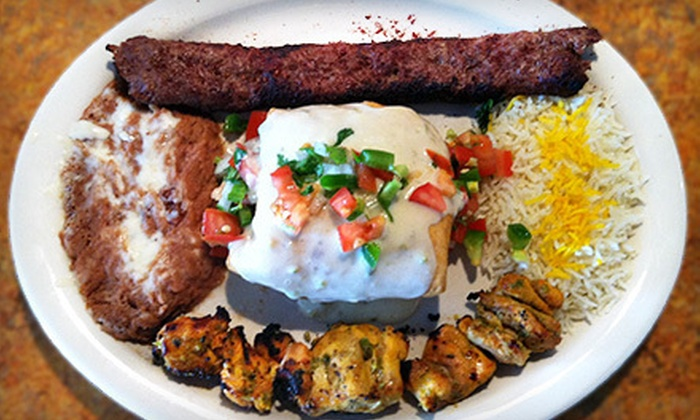 Aladdin Kabab - Reservoir: Persian and Mexican Cuisine at Aladdin Kabab (Half Off). Two Options Available.