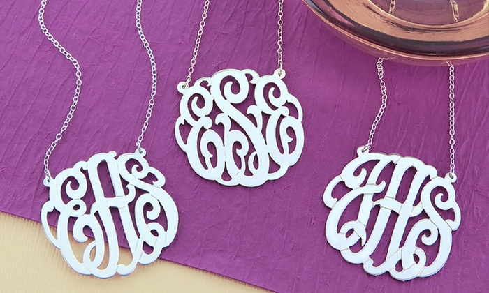 Monogram Online: Two or Three Personalized Monogram Necklaces from Monogram Online (Up to 70% Off). Free Shipping.