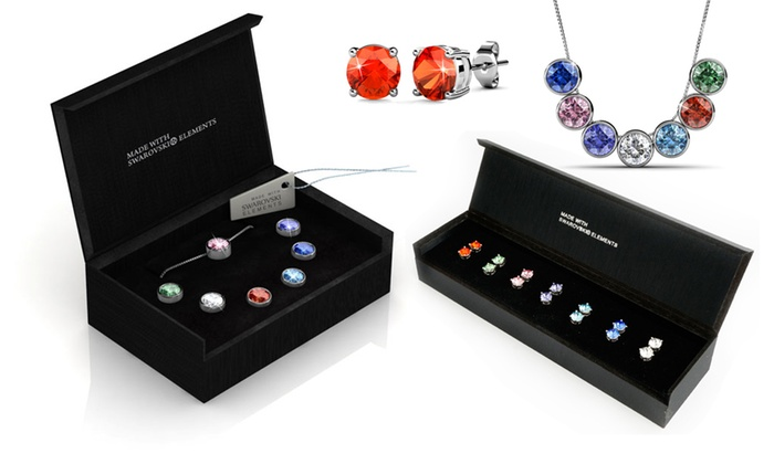 7 day ladies jewellery sets groupon goods her jewellery 19 for a seven pair earring set or seven day interchangeable aloadofball Images