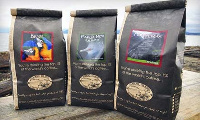 Camano Island Coffee Roasters: 2-, 3-, or 4-Pound Boxes of Coffee and Coffee Lover's Club Enrollment from Camano Island Coffee Roasters (Up to 51% Off)