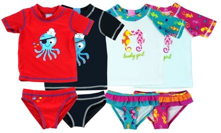 2-Piece Infant and Toddler Swim Sets for Boys and Girls. Multiple Styles Available.