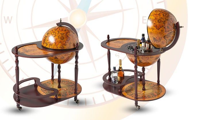 Selection Of Wooden Globe Bars