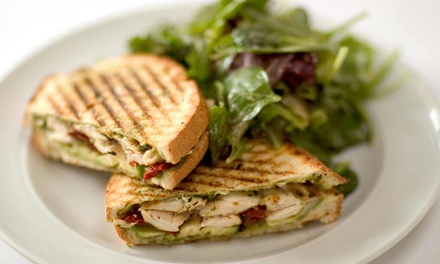 $11 for two vouchers good for a Wrap or Panini, Soup or Salad and a drink