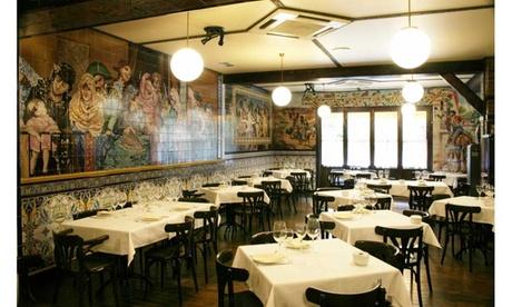Menú para 2 o 4 con entrantes, principal, postre, café y botella de vino o bebida desde 34,90 € en La Malquerida