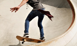 Kona Skate Park: Three or Six All-Day Skate-Park Sessions or One-Week Skate Camp at Kona Skate Park (Up to 60% Off)