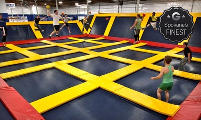 Sky High Sports - Spokane: Two Hours of Jump Time Monday–Thursday or Friday–Sunday, or a Dodge-Ball Court Rental at Sky High Sports (Up to 55% Off)