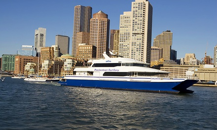 $58 for a Roundtrip Ticket to the Provincetown Fast Ferry from Boston Harbor Cruises ($88 Value)