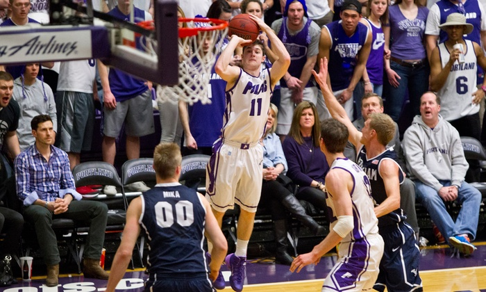 Portland Pilots Men's Basketball - Chiles Center - University of Portland: Portland Pilots Men's Basketball Game with Hot Dogs for One or Four (December 5–February 20)