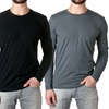 NLA Premium Fitted Long Sleeve Men's Crew Shirt