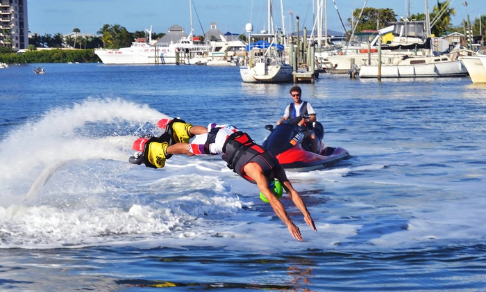 FMB FlyBoard - Getaway Marina, Fort Myers Beach: 15- or 30-Minute Flyboarding Ride for One or Two from FMB FlyBoard (Up to 57% Off)