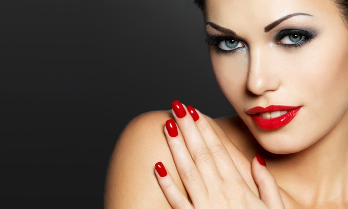 Michael Anthony Salon & Spa - Goose Island: Signature Mani-Pedi for One or Two or Three No-Chip Manicures at Michael Anthony Salon & Spa (Up to 61% Off)