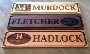 American Laser Crafts: One or Two Personalized House Signs
