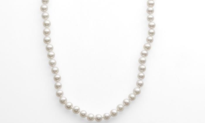 "10-Karat 18"" Cultured Freshwater Pearl Necklace: 10-Karat 18"" Cultured Freshwater Pearl Necklace."