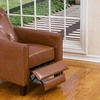 Santino Tufted Bonded Leather Recliner Chair