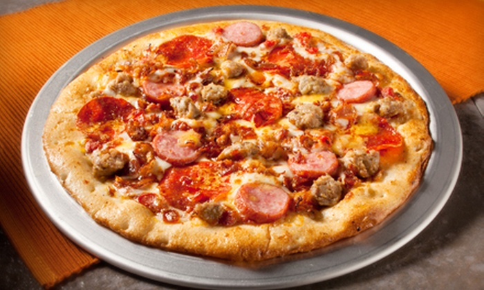 Top That! Pizza - University World: $7 for $14 Worth of Pizza at Top That! Pizza