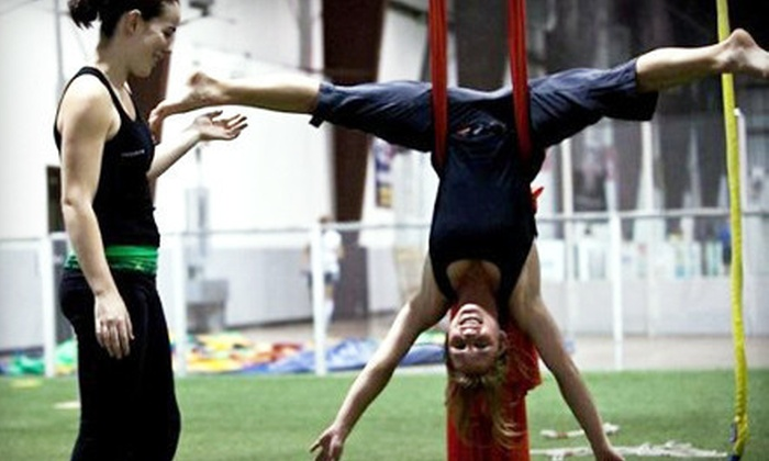 Trapeze Texas - Soccer Zone: One-Hour Aerial Fabric and Silks Class for One or One-Hour Aerial Class for Four at Trapeze Austin (Half Off)