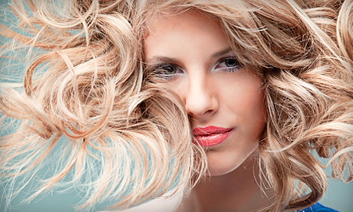 Plush Hair Lounge - Depot Bench: Haircut Package with Optional Partial Highlights, Lowlights, or Full Color at Plush Hair Lounge (Up to 70% Off)