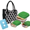 Fit & Fresh Sante Fe Designer Lunch Bag Set with Storage Containers