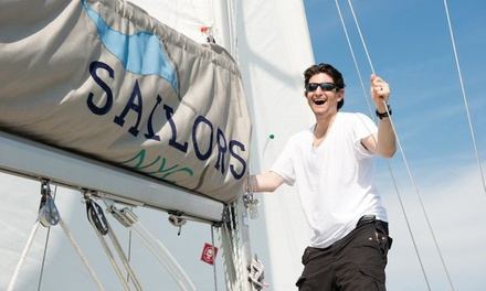 ASA 101 Basic Keel-Boat Certification Course or Sailing Lessons from Sailors NYC (Up to 44% Off). Four Options.