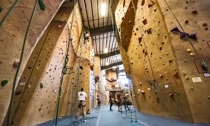 Central Rock Gym - Hadley: $39 for One Month of Unlimited Climbing with Gear and a Beginner's Class at Central Rock Gym ($79 Value)