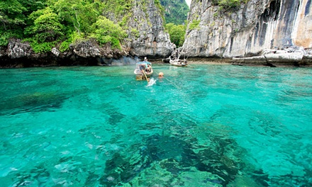 Thailand, Phuket: Full Day Speedboat Tour to Phi Phi and Khai Island for 1 Adult ($55) or Child ($49) + Lunch
