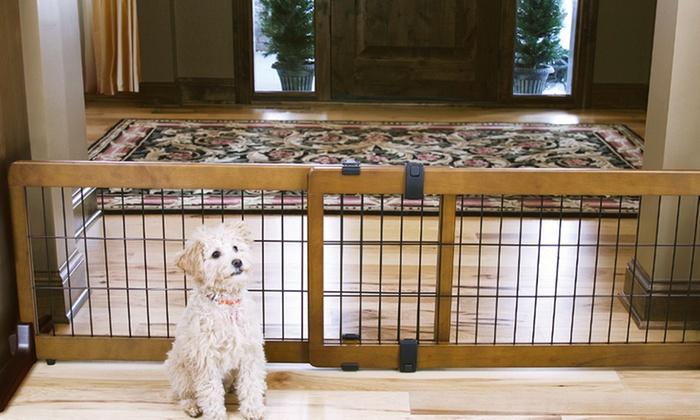 Carlson Design Studio Freestanding Wood Pet Gate Groupon