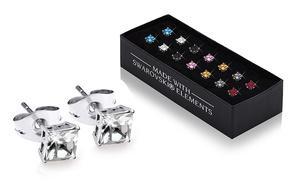 (Bijou)  BO cristaux Swarovski® carrés -88% réduction