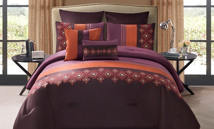 Clermont 8-Piece Embroidered Comforter Set